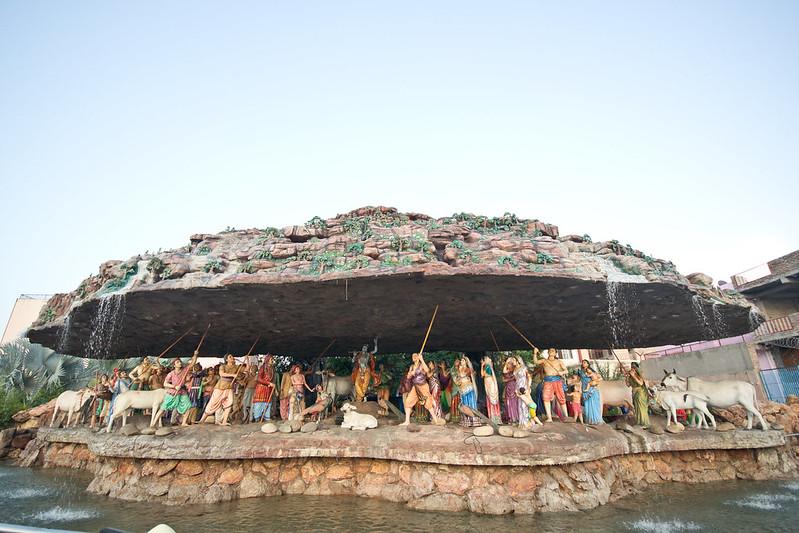 Diorama of Krishna by the Prem Mandir Vrindavan