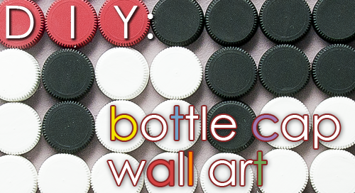 Bottle Cap Wall Art dori the giant: diy: bottle cap wall art