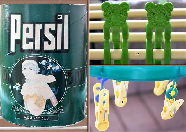 Große Wäsche ... Balkon ... Wäscheklammer ... Bärchen ... Persil Megaperls ... Fotos: Brigitte Stolle