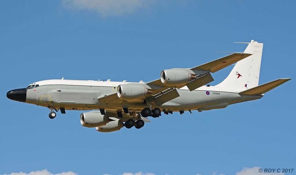 ZZ666 BOEING RC-135W RAF No 51 Sqn   First flight after ...