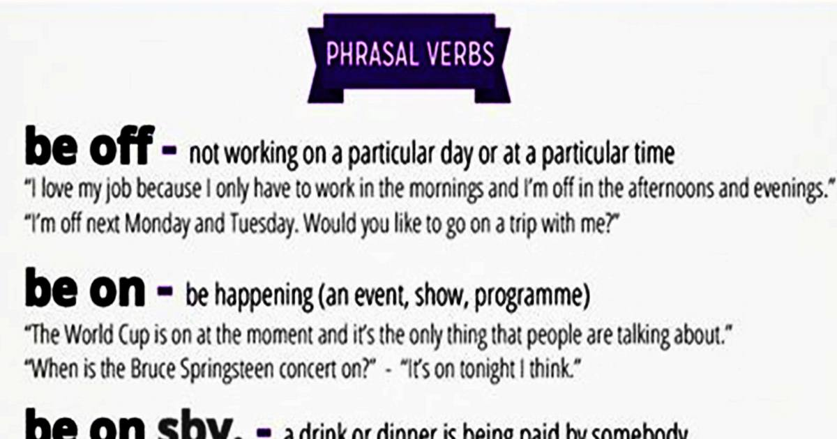 Common Phrasal Verbs in English (Explanation & Examples) 5
