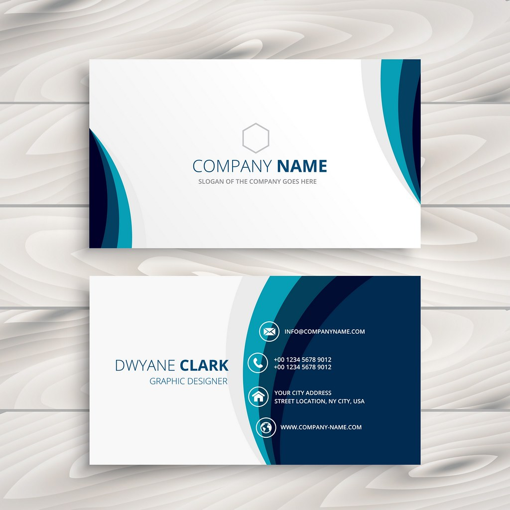 blue wave business card design | blue wave business card des… | Flickr