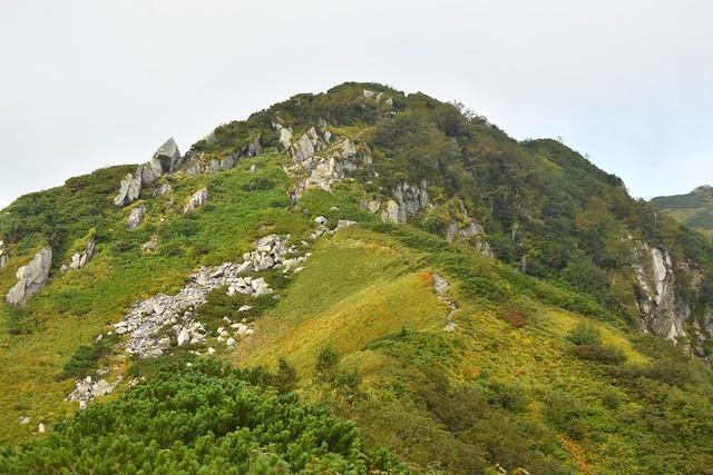 中大日岳への登り坂