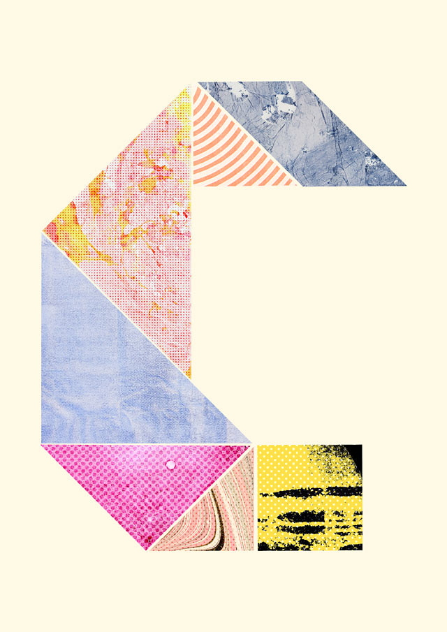 tangram alphabet by laura redburn - C