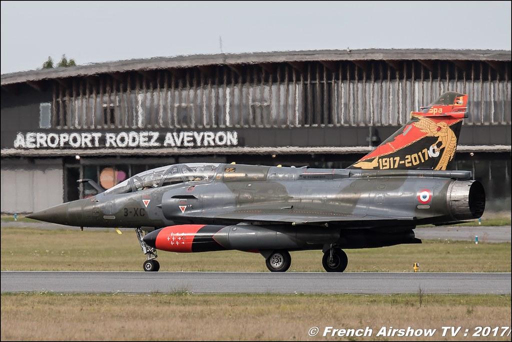 Couteau Delta Tactical Display , Mirage 2000D , La patrouille Couteau Delta , armée de l'air , Meeting aérien contre le cancer , Free Flight World Masters Rodez-Aveyron , FFWM2017 , Meeting Aerien 2017