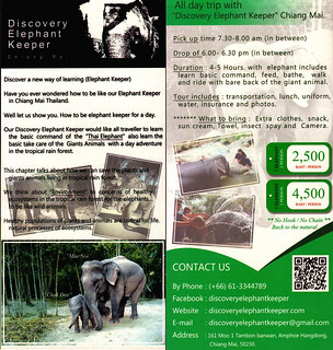 Discovery Elephant Keeper Chiang Mai Thailand Brochure