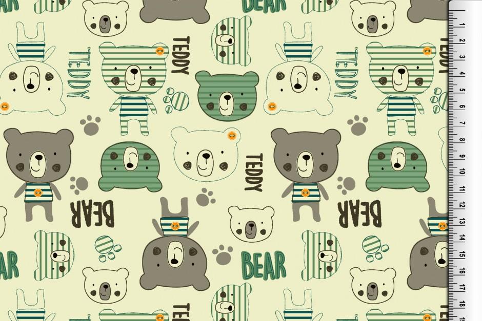 """Baumwoll-Jersey """"Teddy"""", grün"""