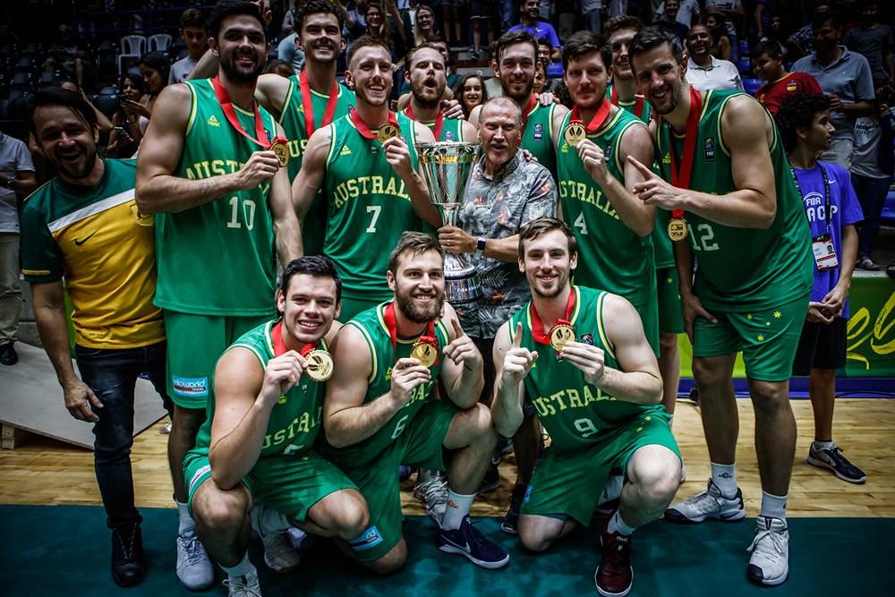澳洲隊奪得2017亞洲盃男籃冠軍。(FIBA提供)