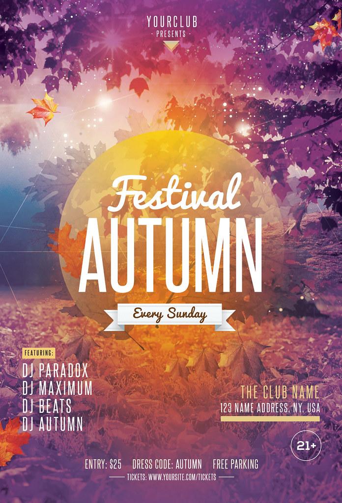 Fall Festival Autumn Psd Flyer Template Fall Festival Au Flickr
