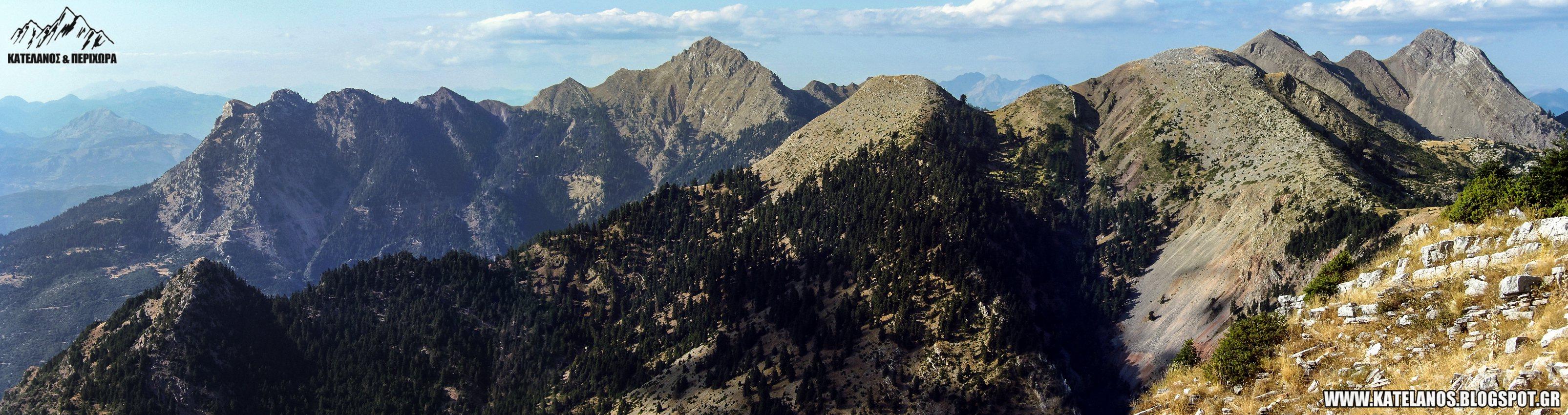 οροσειρα παναιτωλικο ορος κορυφες βουνα αιτωλοακαρνανιας