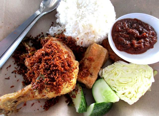 JuneWestern ayam penyet rice