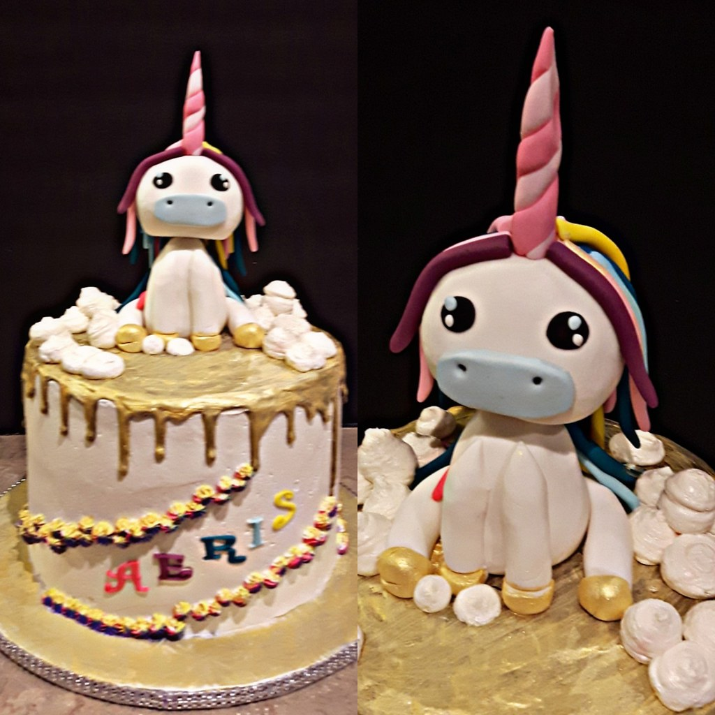 All Vegan Baby Unicorn Cake For Aeris 1st Birthday Pea Flickr