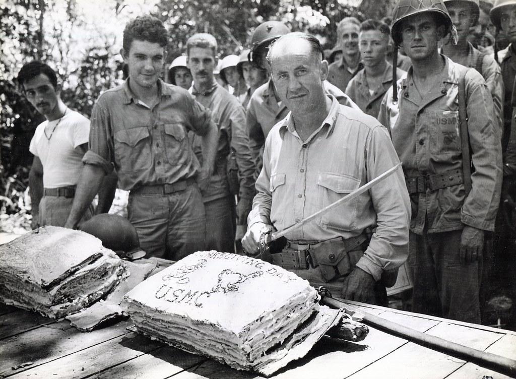 Marine Corps Birthday Celebration Guadalcanal Circa 1942