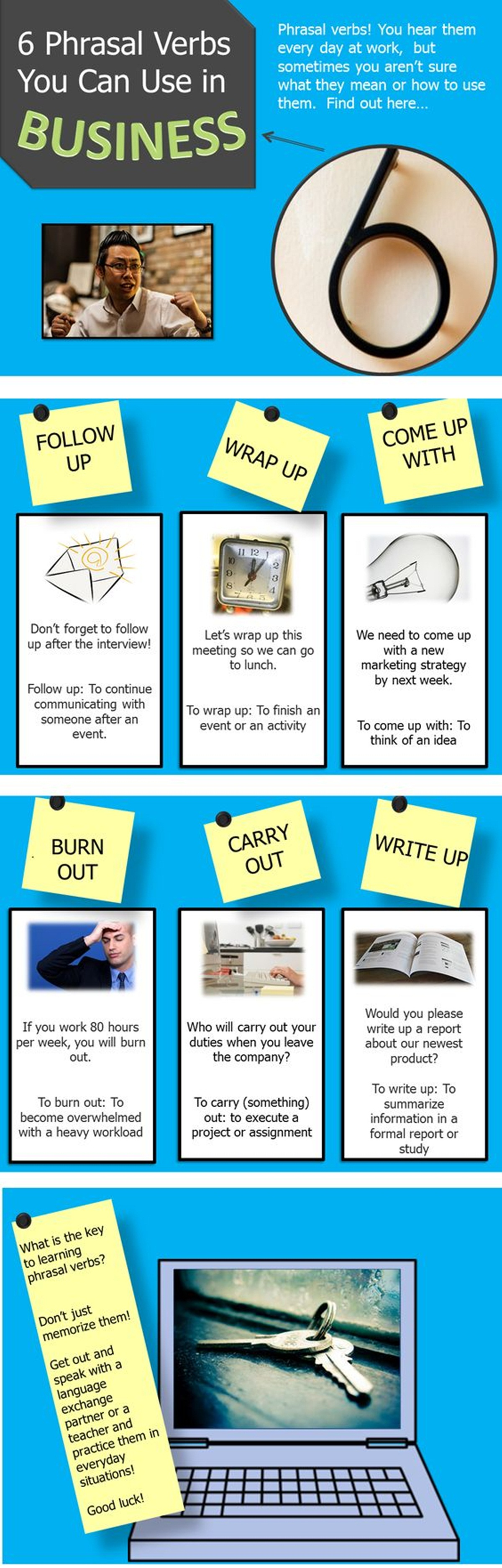 Six Phrasal Verbs You Can Use in BUSINESS 3