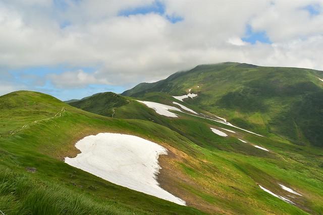 姥ヶ岳から月山への稜線