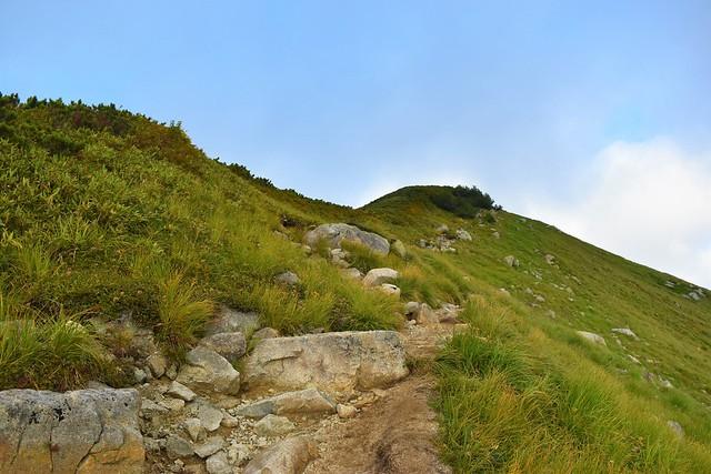 大日岳山頂への稜線