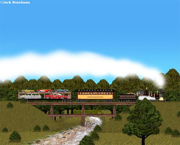 Adventure Train on trestle ©Jack Boardman