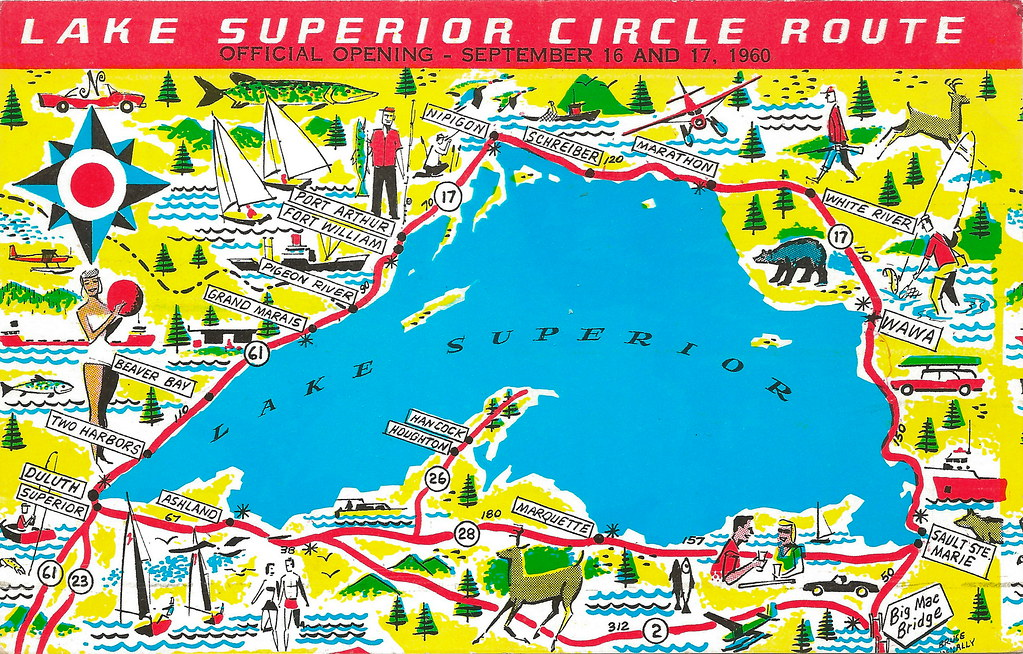 MICHIGAN MAP UP 1950s LAKE SUPERIOR Trans-Canada Superior … | Flickr
