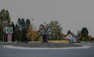 Rondellkonst i Malung  / art in a roundabout | by camillagarin