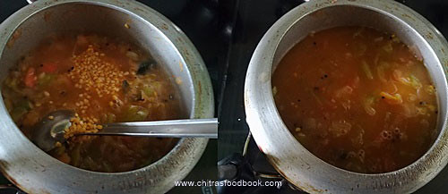 Green tomato sambar recipe