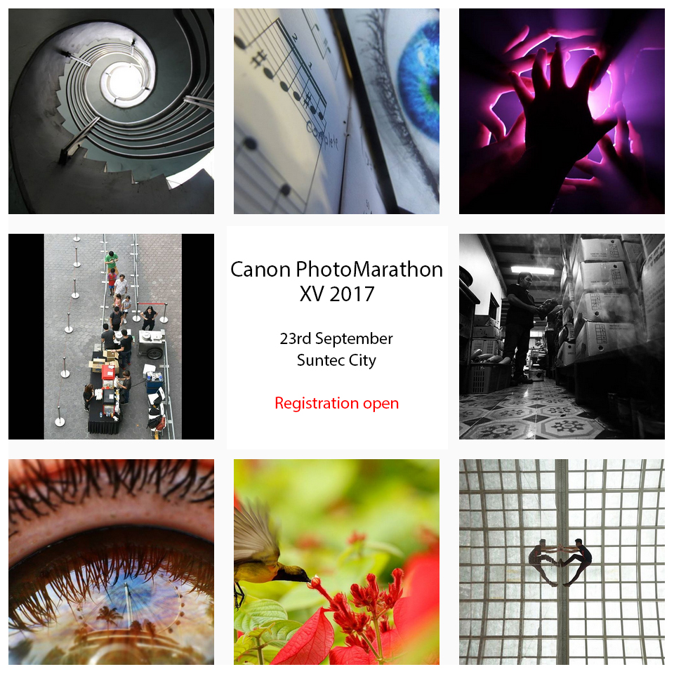 Registration is open for Canon PhotoMarathon XV 2017 in Singapore.