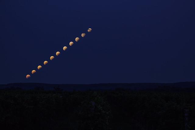 VCSE - Fábián Kálmán sorozatképe a részleges, Magyarországról részben látható volt holdfogyatkozásról