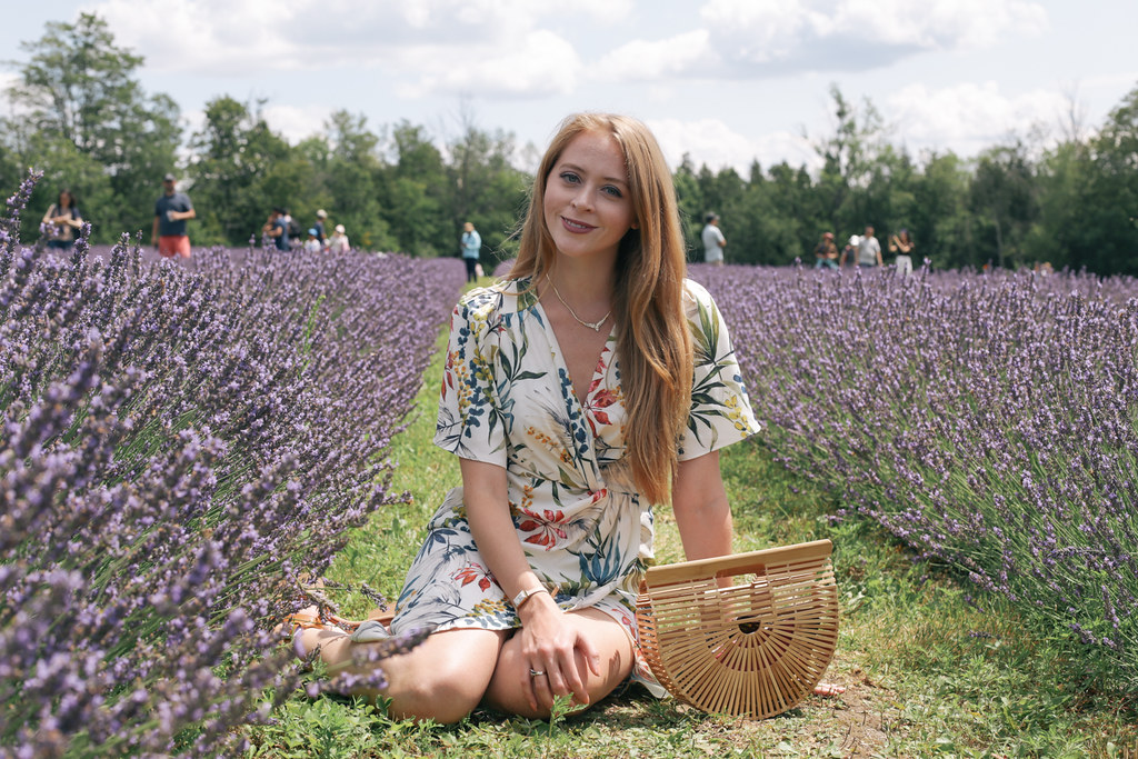 Terre Bleu Lavender Farm outfit cult gaia ark bag