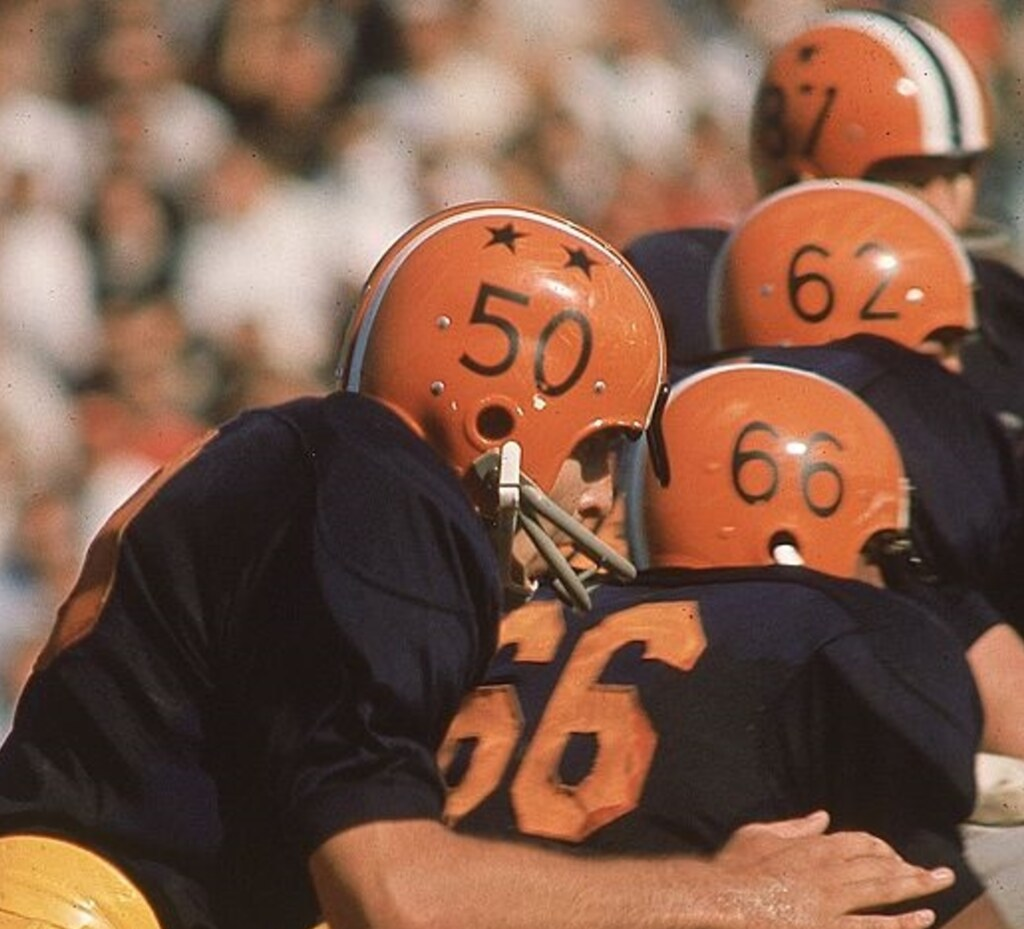 Here s a shot that shows Dick Butkus (No. 50) with two stars 26c3bac41