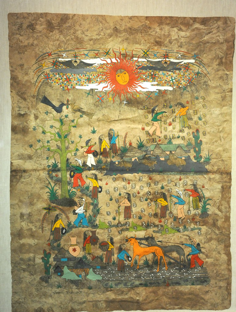 Amate Bark Painting Guerrero Mexico Planting Scene Flickr