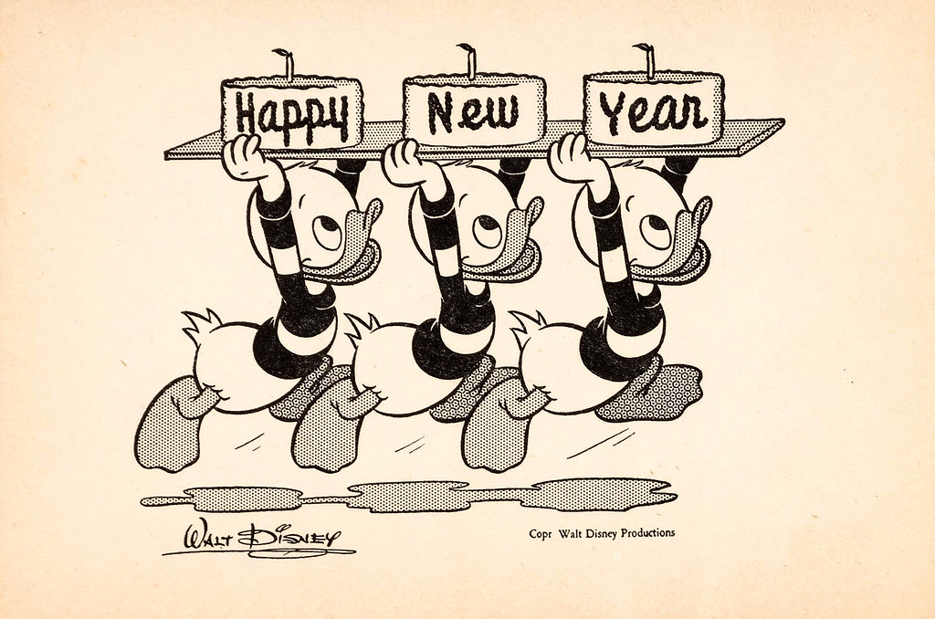 happy new year 1945 disney recipe club card by tom simpson