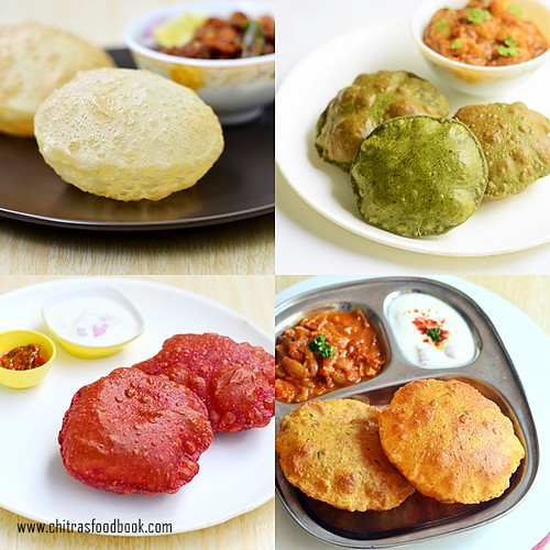 Poori varieties - puri recipes
