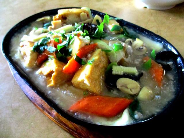 Mei Le ang sio hot plate tofu