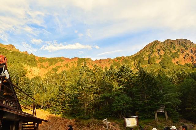 赤岳のアーベントロート