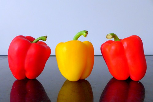 red and yellow bell peppers | by Tweety Golez
