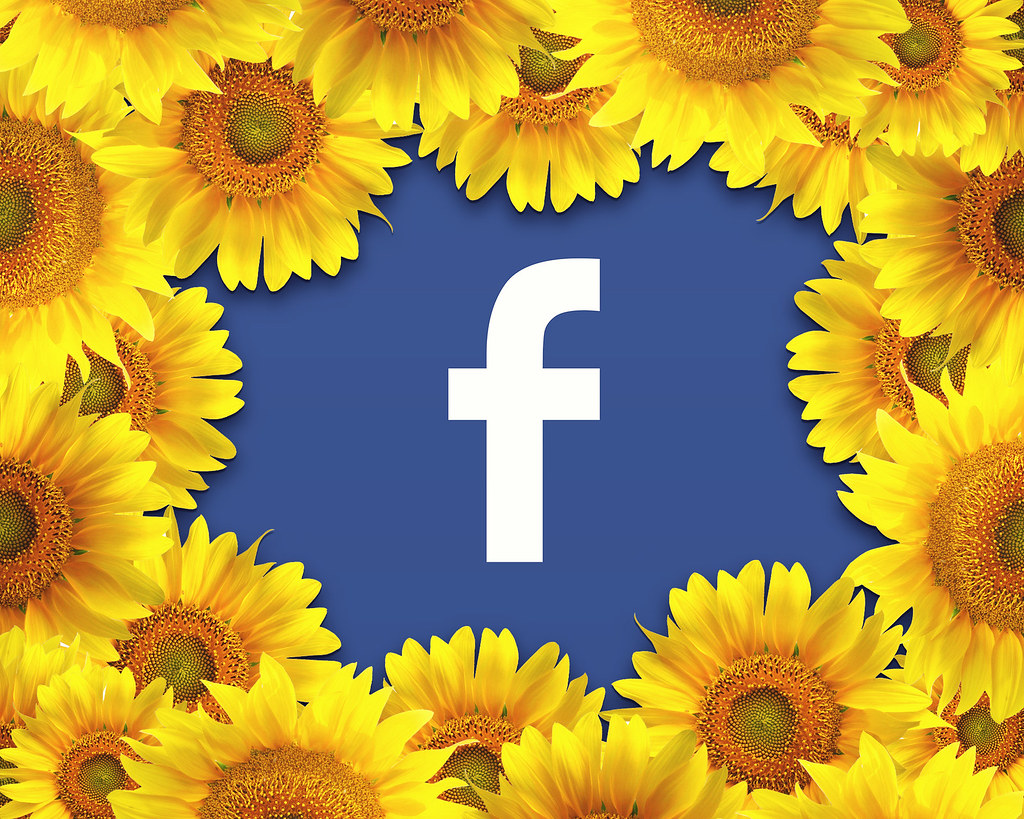 Facebook Logo Surrounded By A Border Of Yellow Flowers Flickr