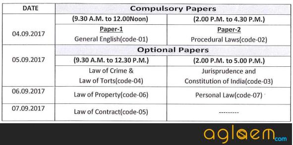 Odisha Judicial Service Admit Card 2017