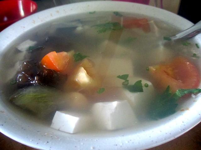 Mei Le salted vegetable tofu soup