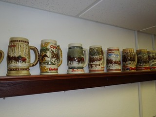 Budweiser Holiday beer steins | by thornhill3
