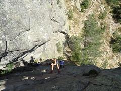 """La dalle """"mythique"""" de la variante alpine du GR20"""