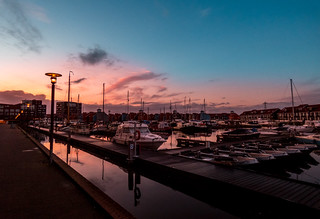 Sunset at the harbor. (Reitdiephaven Groningen) | by breedveldmathijs