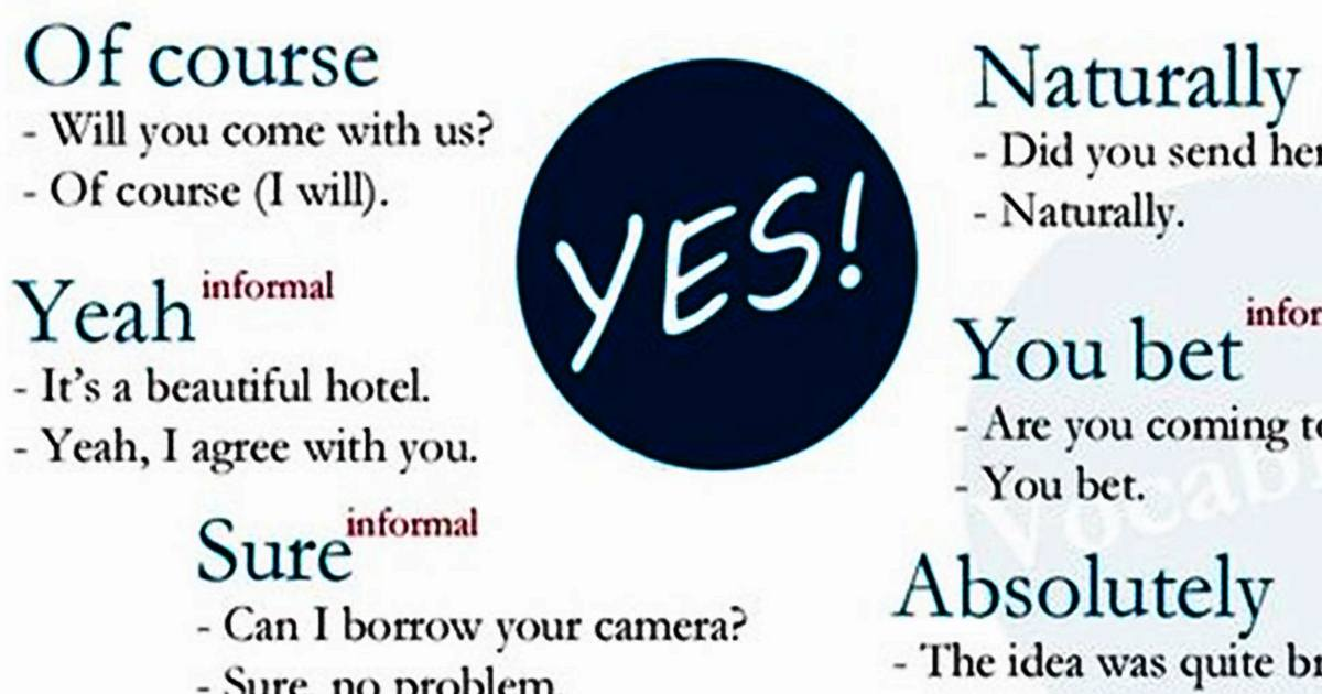 """Different Ways to Say """"YES"""" 5"""