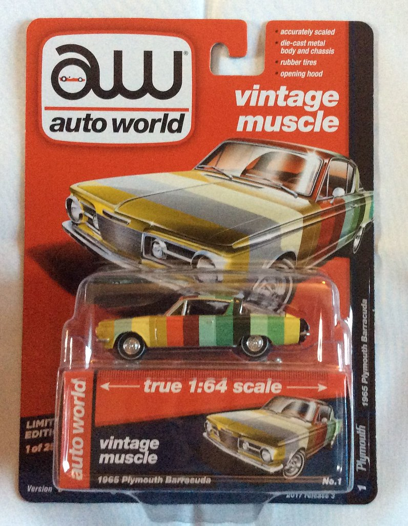 Auto World 64112 1:64 Vintage Muscle 1965 Plymouth Barracuda ...