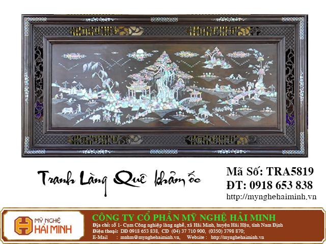 TRA5819a  Tranh Lang Que kham oc  do go mynghehaiminh