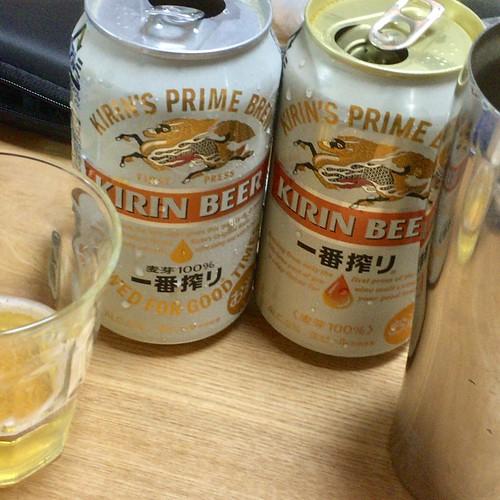 ビール: キリンの一番搾りがリニューアル