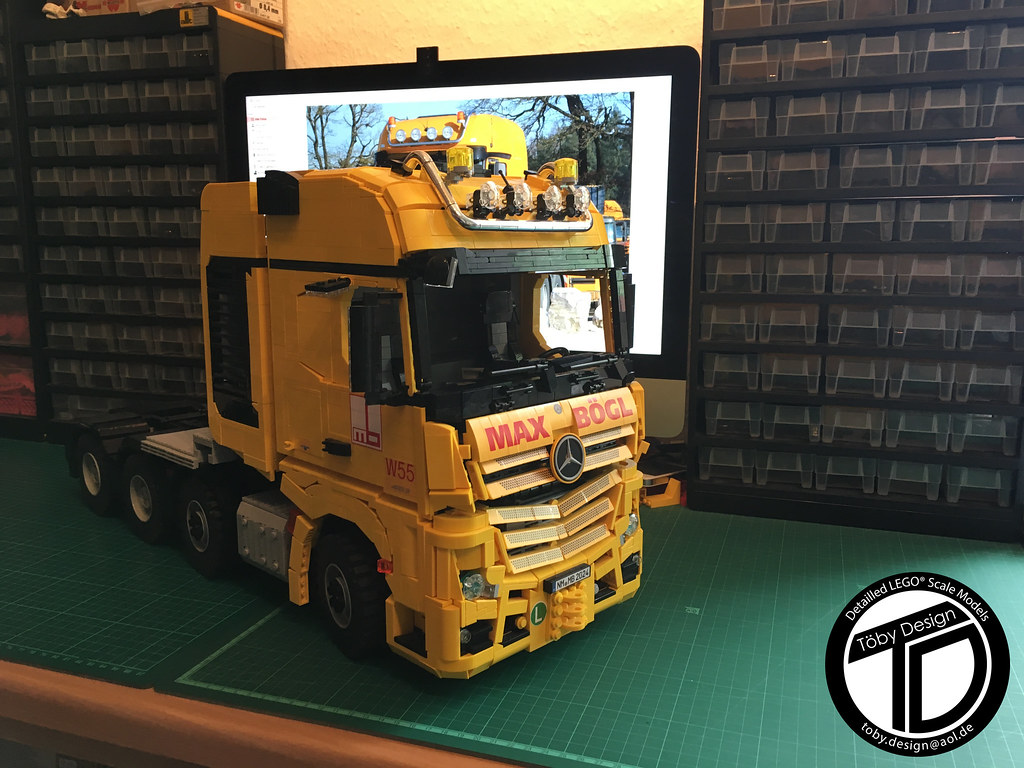 lego mercedes actros slt 1 13 max b gl new look. Black Bedroom Furniture Sets. Home Design Ideas