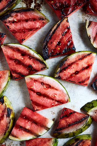 Grilled Watermelon Salad with Arugula and Feta | by Tasty Yummies