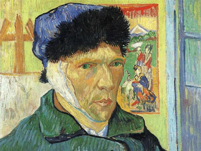 Autorretrato con oreja vendada, Van Gogh (1889)