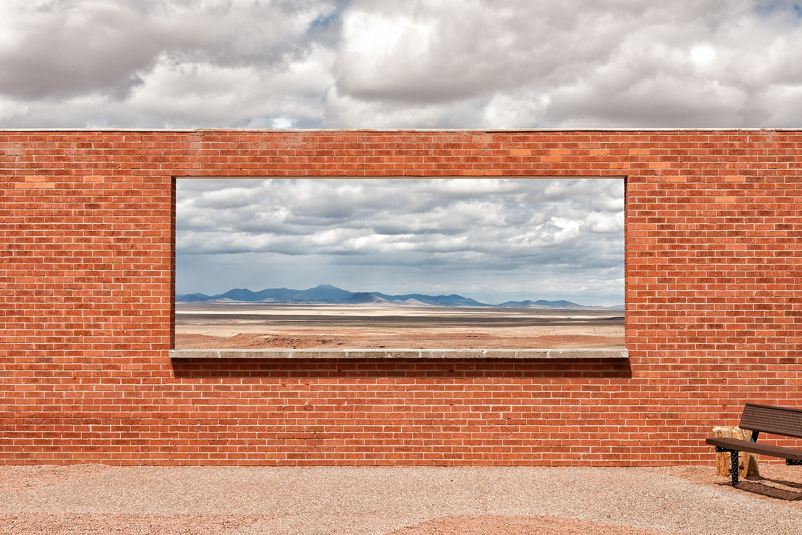 picture window. meteor crater, az. 2007.   by eyetwist