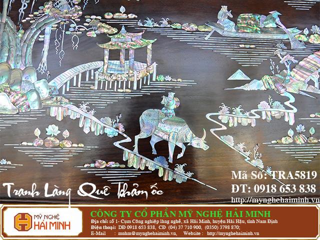 TRA5819g  Tranh Lang Que kham oc  do go mynghehaiminh