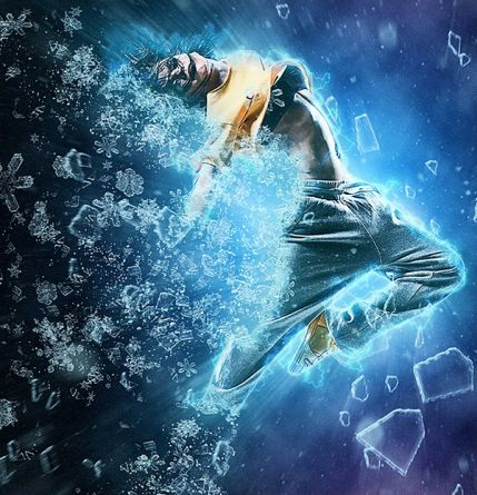 Ice Nova Photoshop action free download – ice and snow